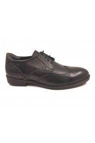 Pantofi eleganti negri din piele naturala In Tempo