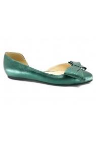 Pantofi dama decupati  model D`Orsay  verzi