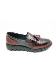 Pantofi dama casual din lac bordo