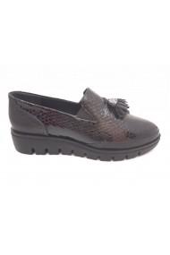 Pantofi dama casual din lac negri