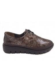 Pantofi dama casual maro cu platforma