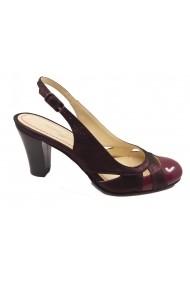 Pantofi decupati bordo sidefat din piele naturala