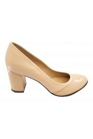 Pantofi dama eleganti nude din piele naturala