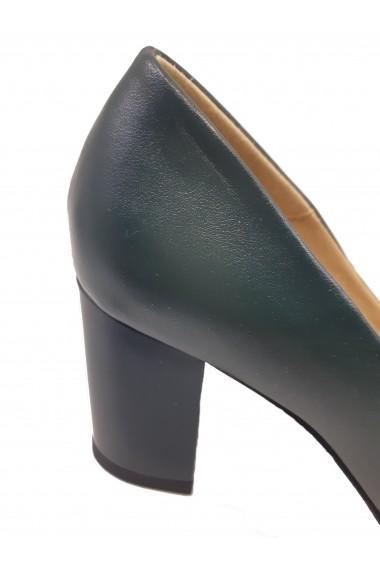 Pantofi dama eleganti verzi din piele naturala