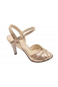 Sandale elegante aurii din piele naturala