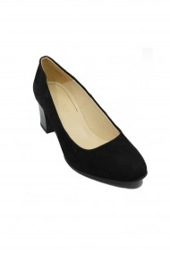 Pantofi dama negri timeless din piele intoarsa