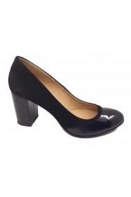 Pantofi dama eleganti negri din piele naturala