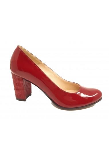 Pantofi dama rosii din lac