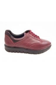 Pantofi dama bordo din piele naturala