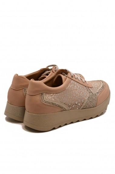Pantofi sport dama roz pudra din piele naturala