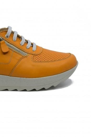 Pantofi sport dama mustar din piele naturala