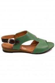 Sandale dama casual verzi din piele naturala