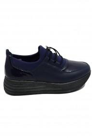 Pantofi sport dama bleumarin din piele naturala