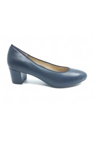 Pantofi dama bleumarin din piele naturala