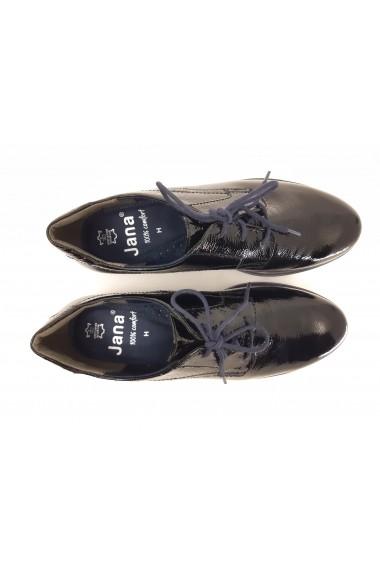 Pantofi dama casual din piele naturala lucioasa  culoare neagra