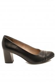 Pantofi dama office negri  din piele naturala