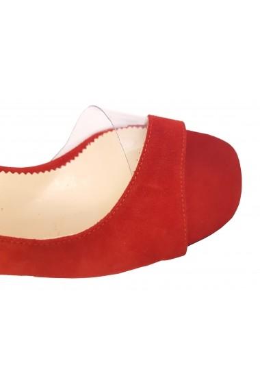 Sandale decupate rosu antilopa
