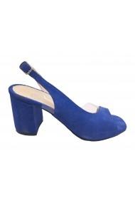 Sandale decupate albastru antilopa