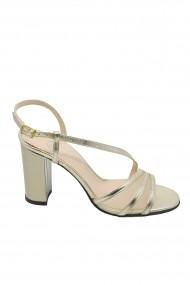 Sandale dama elegante aurii din piele naturala