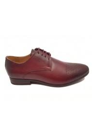 Pantofi eleganti visinii din piele naturala