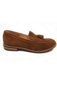 Pantofi slip-on barbati din piele naturala intoarsa