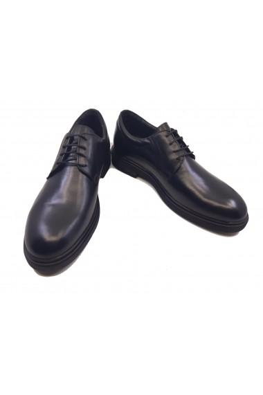 Pantofi eleganti negru box din piele naturala