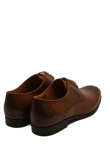 Pantofi eleganti cognac din piele naturala