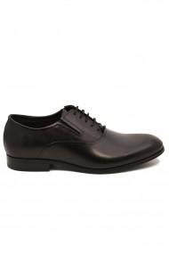 Pantofi negri eleganti din piele naturala