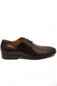 Pantofi eleganti mahon din piele naturala