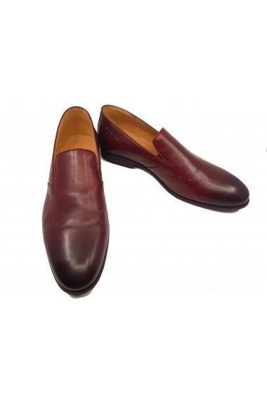 Pantofi eleganti slip-on visinii din piele naturala