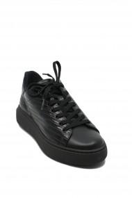 Pantofi dama casual negri cu siret