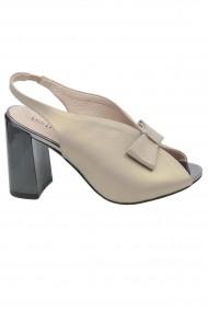 Sandale elegante roz pal din piele naturala