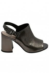 Sandale elegante bronz metalic  din piele naturala