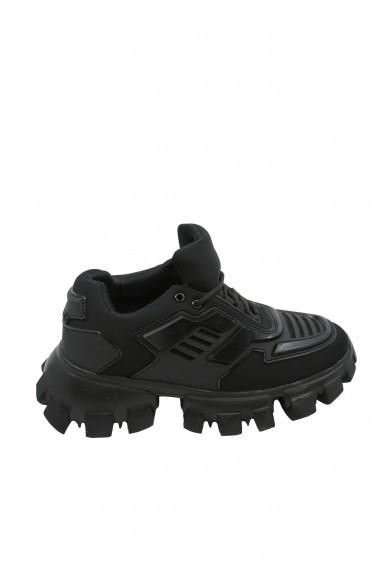 Pantofi sport dama negri din material textil flexibil