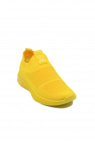 Sneakers dama galbeni din material textil