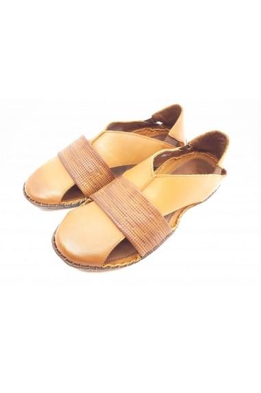 Sandale maro barbati cu design modern si talpa cusuta