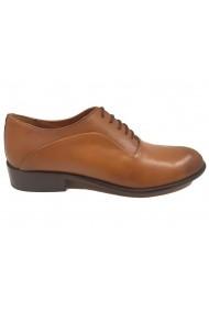 Pantofi eleganti taba din piele naturala