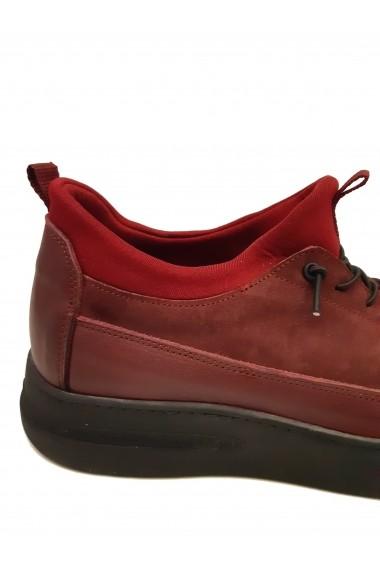 Pantofi sport strech  bordo  din piele intoarsa