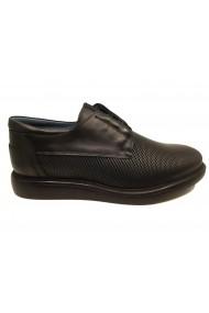 Pantofi barbati casual negri din piele naturala