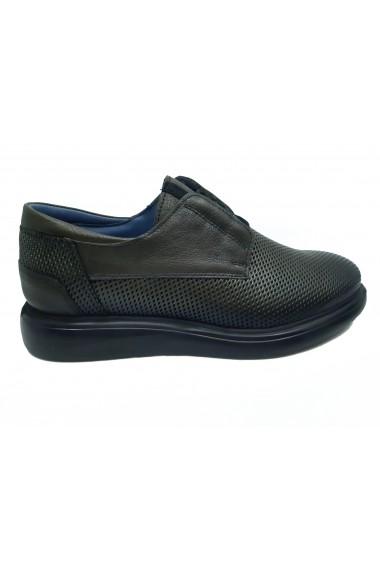 Pantofi barbati casual kaki din piele naturala