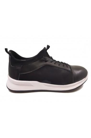 Pantofi sport barbati din material elastic si piele naturala