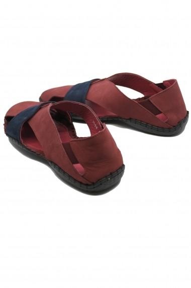 Sandale bordo barbati cu design modern si talpa cusuta