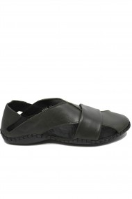Sandale kaki barbati cu design modern si talpa cusuta