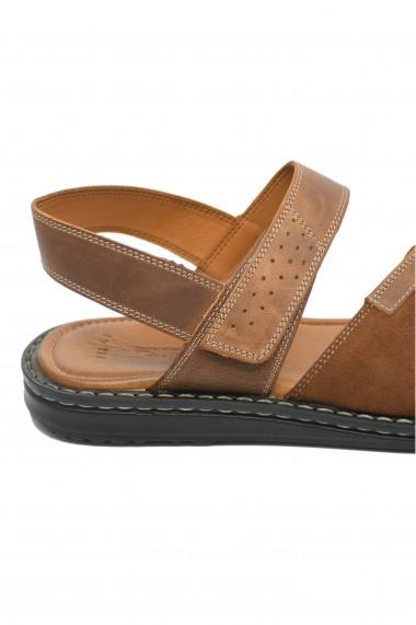 Sandale maro barbati din piele naturala