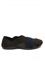Sandale barbati maro-bleumarin cu design modern si talpa cusuta