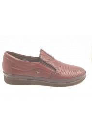 Pantofi casual bordo perforati In Tempo