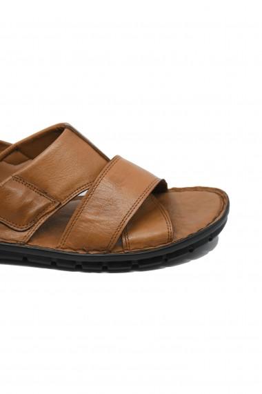 Sandale usoare pentru barbati in culoarea tutunului