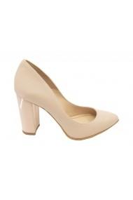 Pantofi eleganti nude din piele naturala