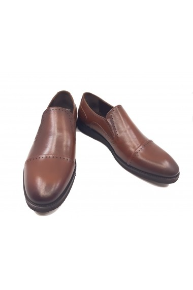 Pantofi maro barbati din piele naturala