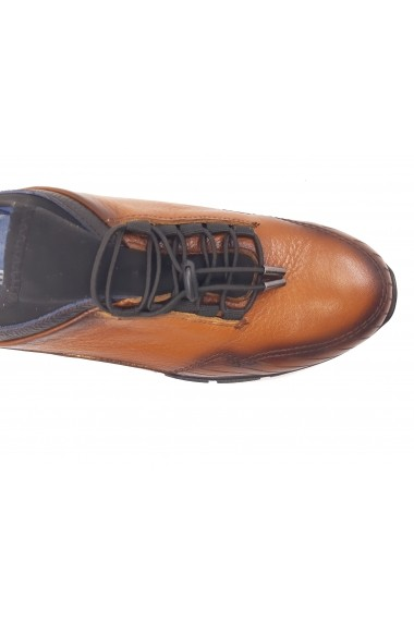 Pantofi sport maro barbati din piele naturala